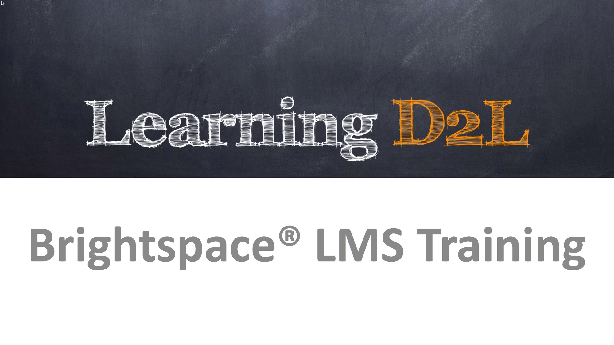 D2L Brightspace Training